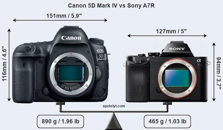 Compare Canon 5D Mark IV and Sony A7R