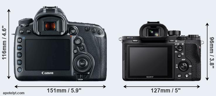 5D Mark IV and A7S II rear side