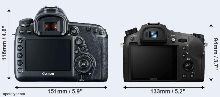 5D Mark IV and RX10 IV rear side