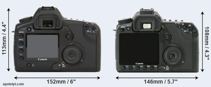 5D and 40D rear side