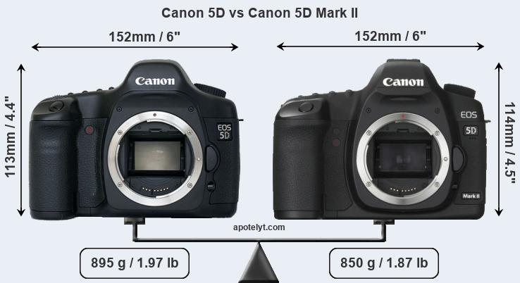 Compare Canon 5D vs Canon 5D Mark II