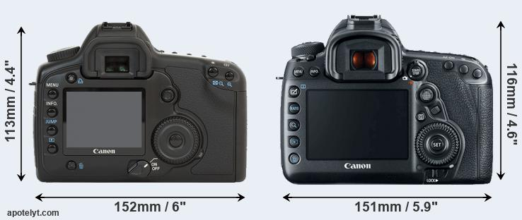 5D and 5D Mark IV rear side