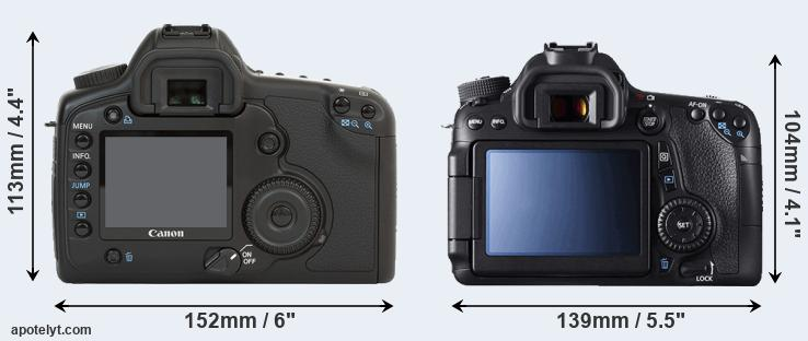 5D and 70D rear side