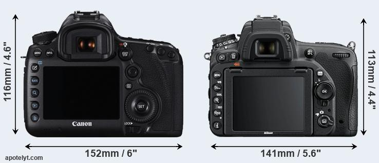 5DS R and D750 rear side