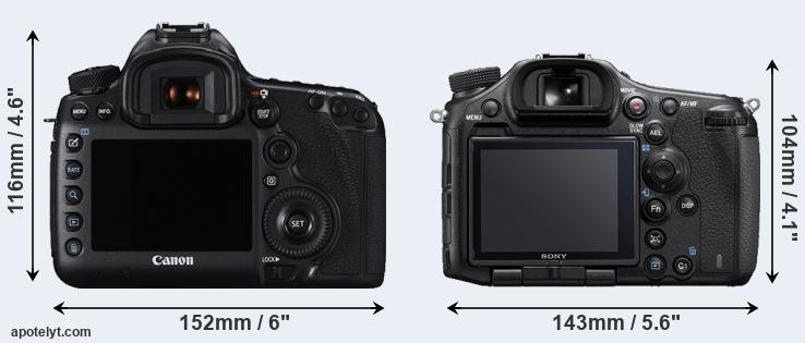 5DS R and A99 II rear side