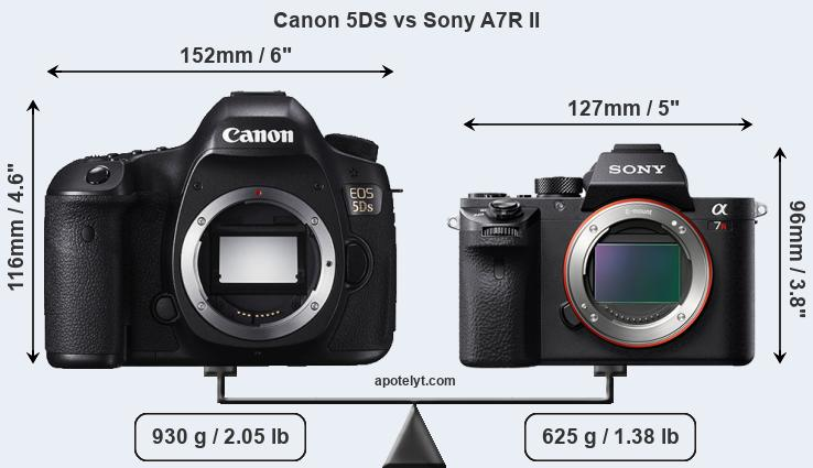 Snapsort Canon 5DS vs Sony A7R II