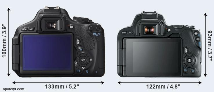 600D and 200D rear side