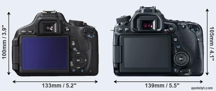 600D and 80D rear side