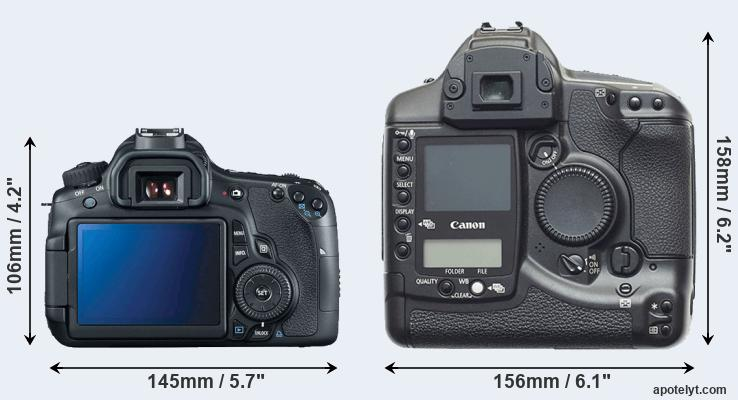60D and 1D rear side