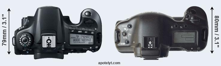 60D versus 1D top view