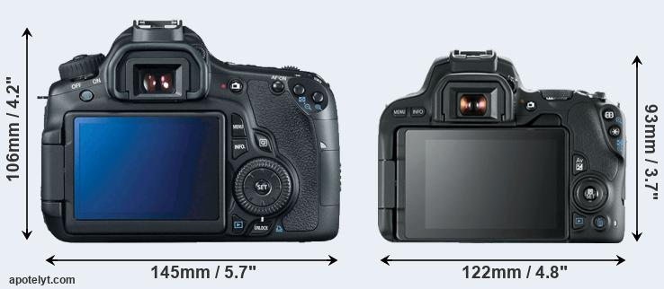 60D and 200D rear side