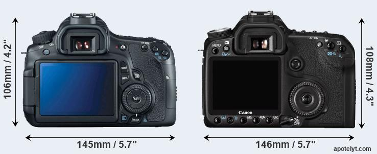 60D and 50D rear side