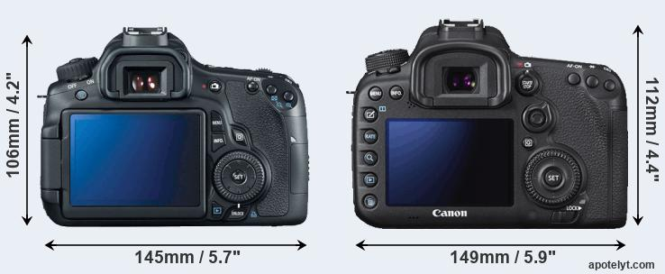 60D and 7D Mark II rear side