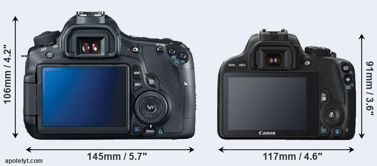60D and SL1 rear side