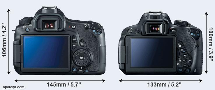 60D and T5i rear side