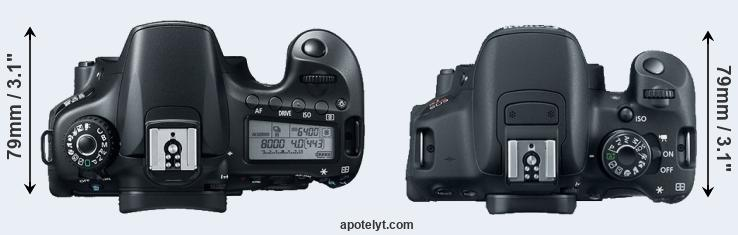 60D versus T5i top view
