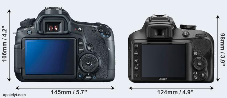 60D and D3400 rear side
