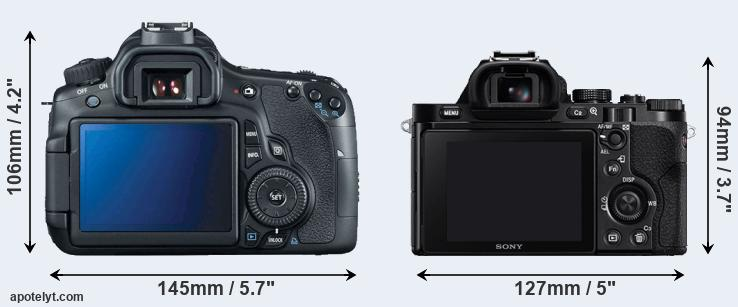 60D and A7 rear side