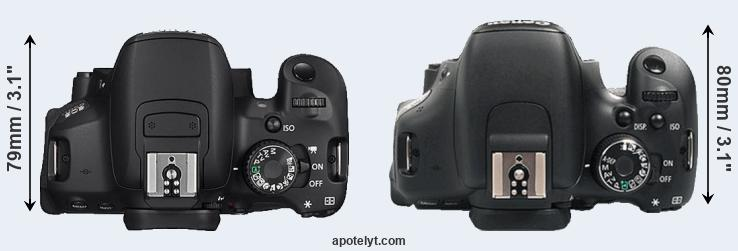 650D versus 600D top view