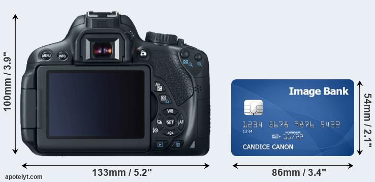 650D and credit card rear side