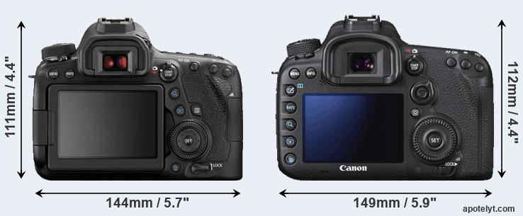 6D Mark II and 7D Mark II rear side
