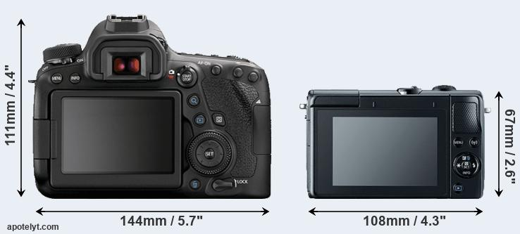 6D Mark II and M100 rear side