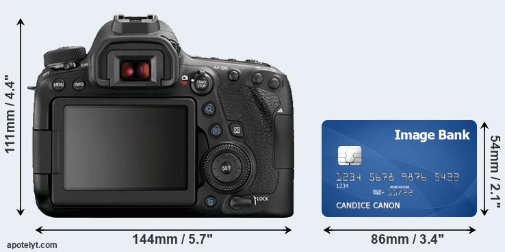 6D Mark II and credit card rear side