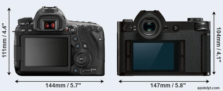 6D Mark II and SL rear side