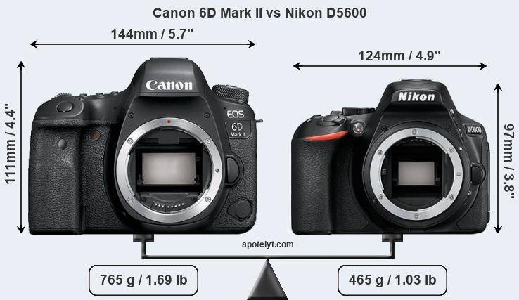 Compare Canon 6D Mark II and Nikon D5600