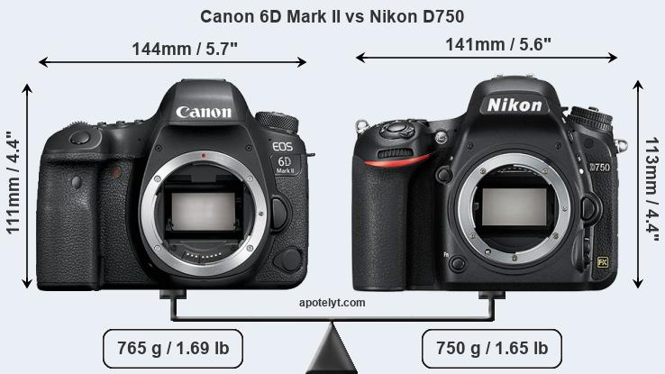 Compare Canon 6D Mark II vs Nikon D750