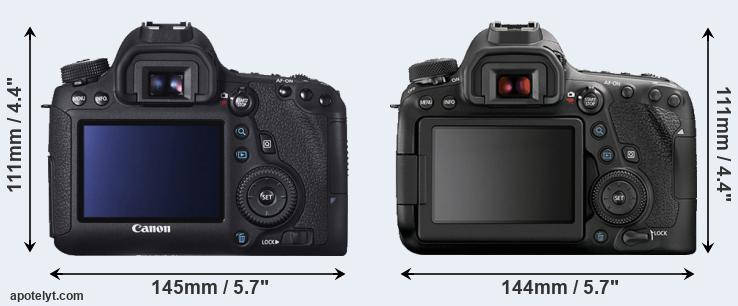 6D and 6D Mark II rear side
