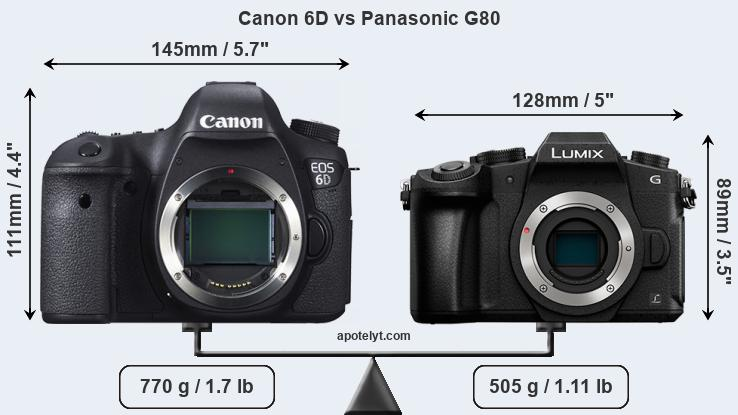 Compare Canon 6D vs Panasonic G80