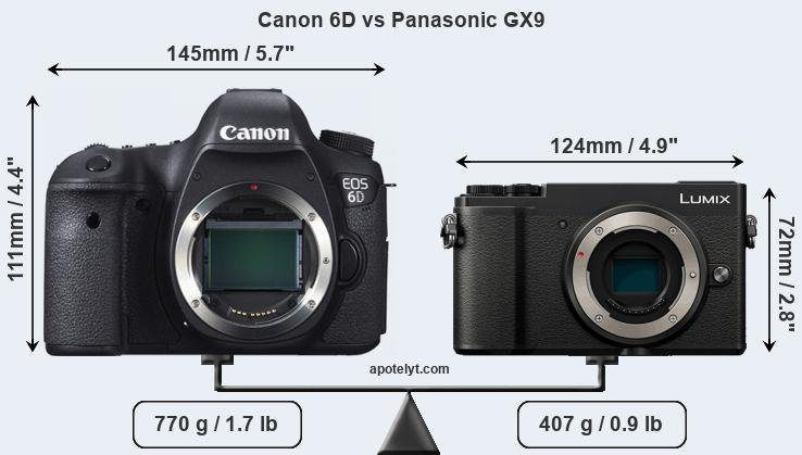 Compare Canon 6D vs Panasonic GX9