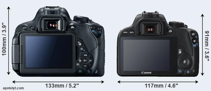 700D and 100D rear side