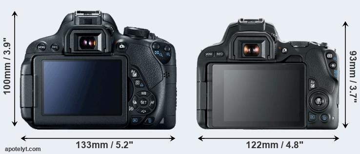 700D and 200D rear side