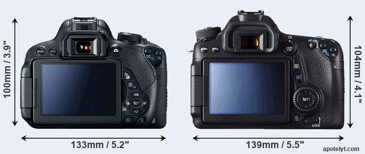 700D and 70D rear side
