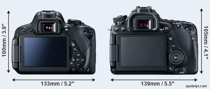 700D and 80D rear side