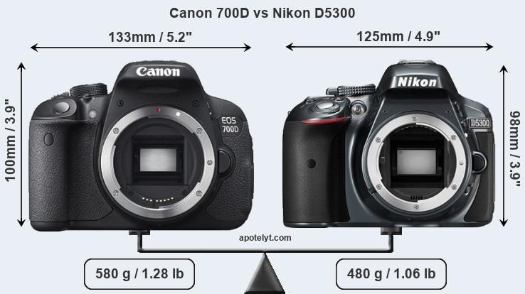 Nikon d5300 vs eos 700d