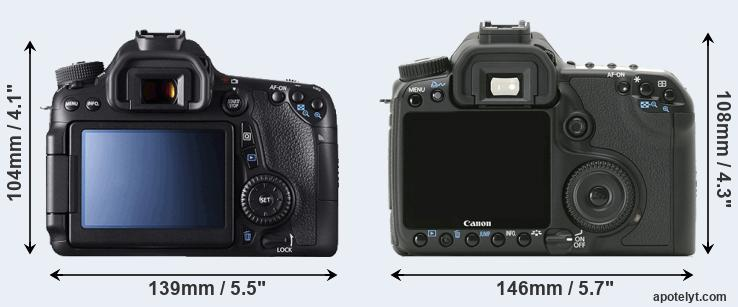 70D and 40D rear side