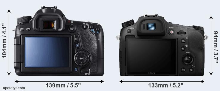70D and RX10 IV rear side