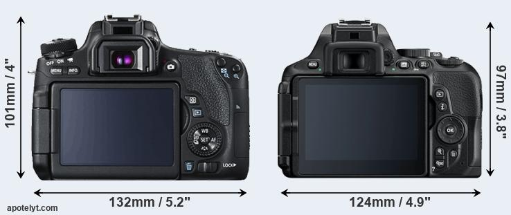 760D and D5600 rear side