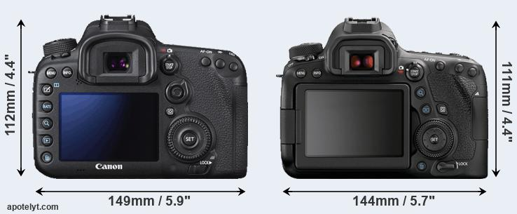 7D Mark II and 6D Mark II rear side