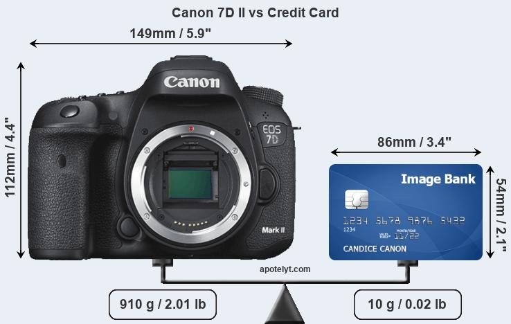 Canon 7D II vs credit card front