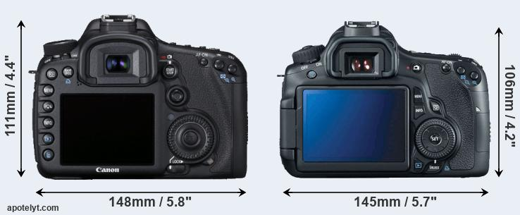 7D and 60D rear side