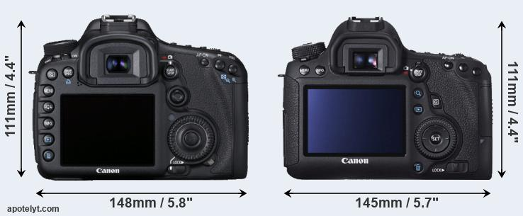 7D and 6D rear side