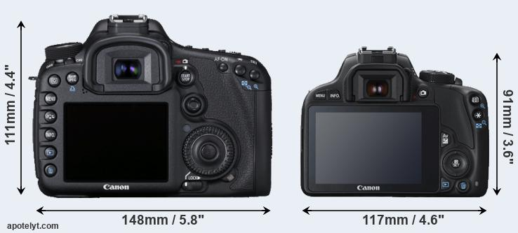 7D and SL1 rear side