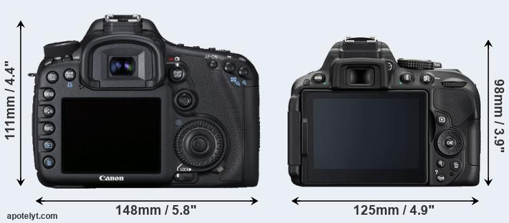 7D and D5300 rear side