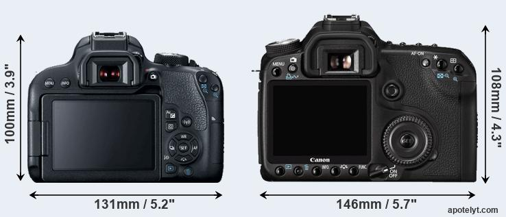 800D and 50D rear side