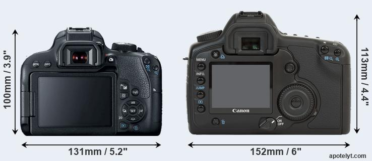 800D and 5D rear side