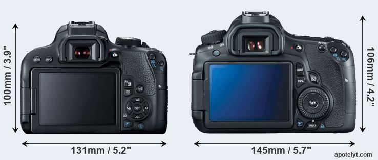 800D and 60D rear side
